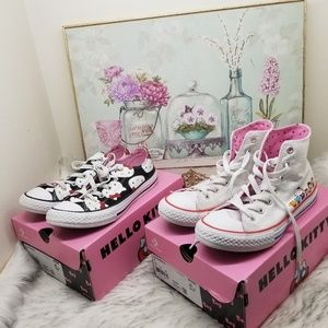 Converse x Hello Kitty set of hi & low 2 pairs
